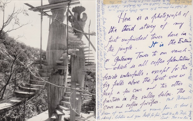 Construction at Xilitla and Edward James correspondence. Edward James Archive, © Edward James Foundation